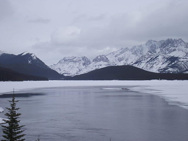 Lower Kananaskis Lake in winter