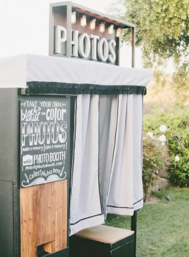 A Photo booth sitting outside