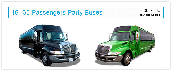 16-30 Passengers Party Bus